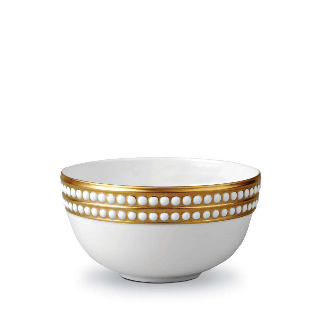 Perlée Cereal Bowl - Medium - Gold - TERTIUS COLLECTION