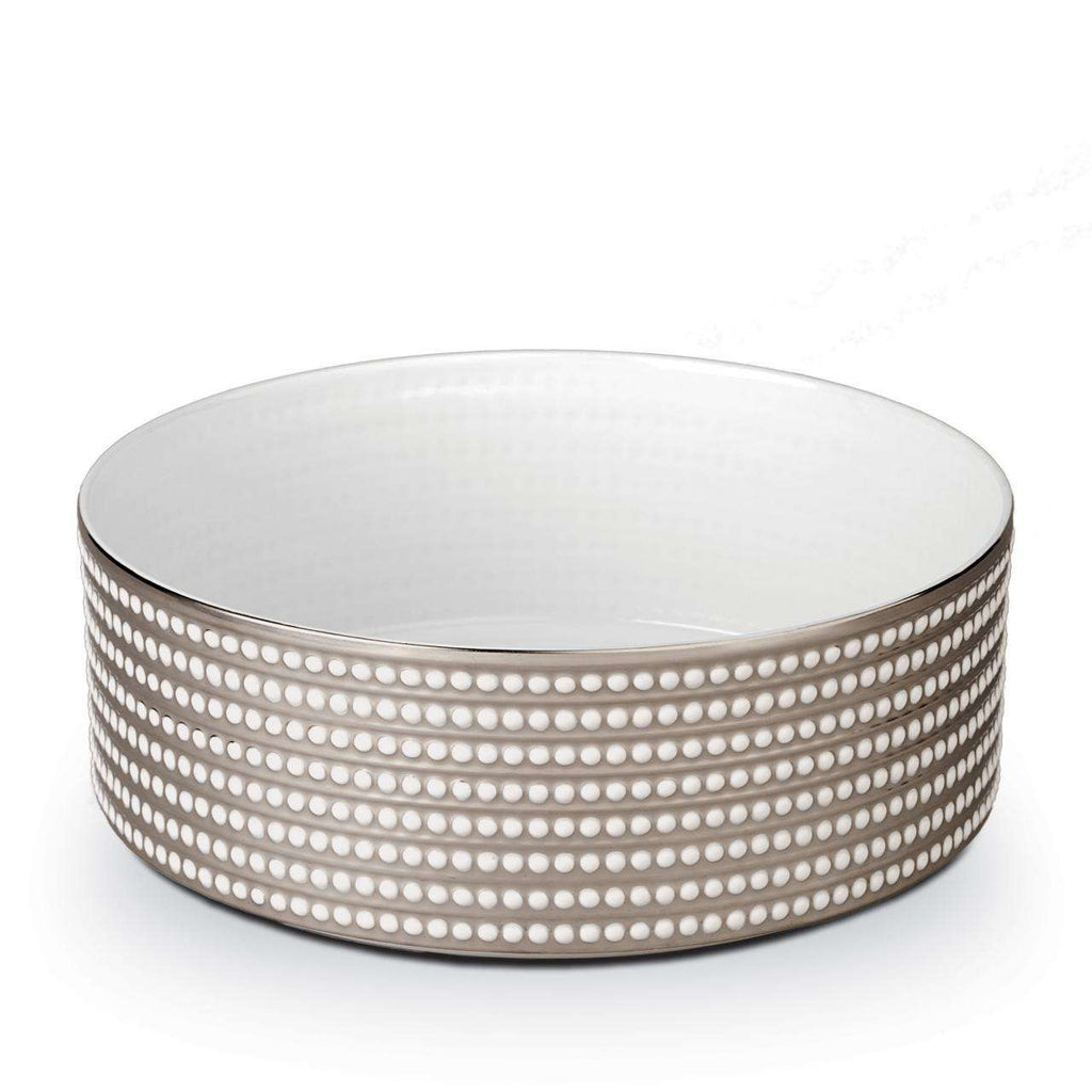 Perlée Deep Bowl - Large - Platinum - TERTIUS COLLECTION