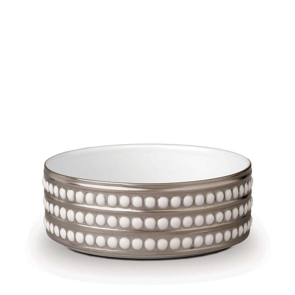 Perlée Deep Bowl - Medium - Platinum - TERTIUS COLLECTION