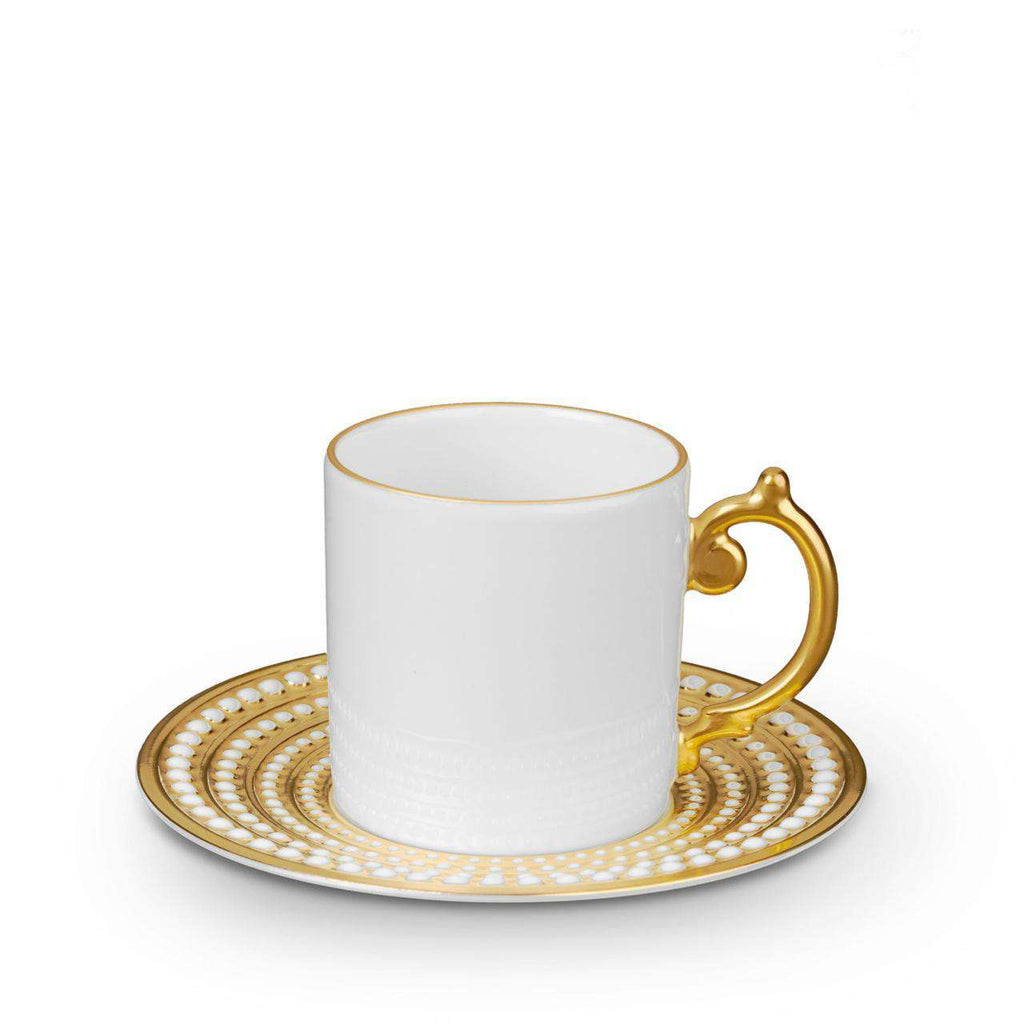 Perlée Espresso Cup & Saucer - Gold - TERTIUS COLLECTION
