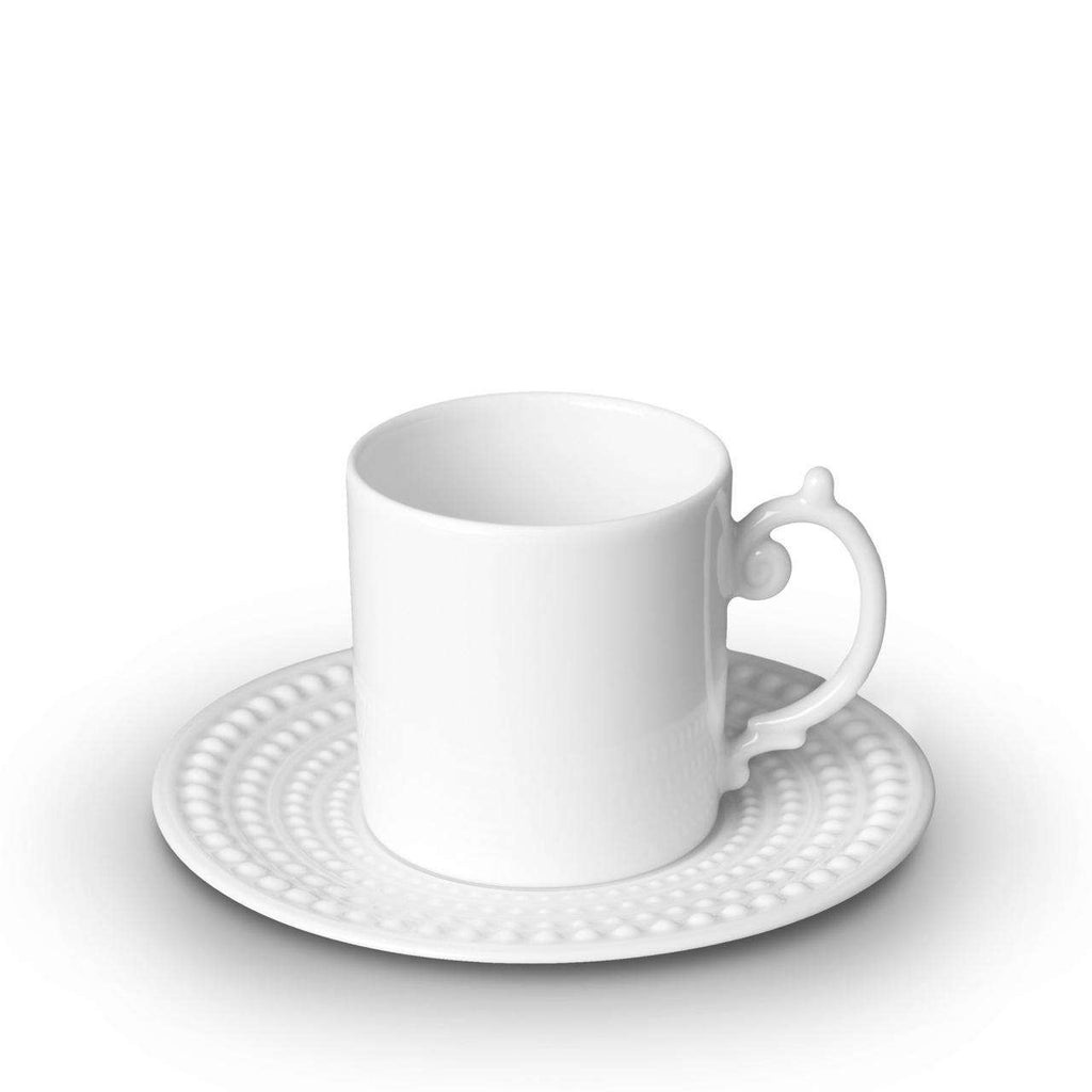 Perlée Espresso Cup & Saucer - White - TERTIUS COLLECTION