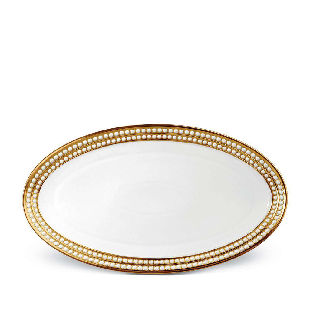 Perlée Oval Platter - Large - Gold - TERTIUS COLLECTION