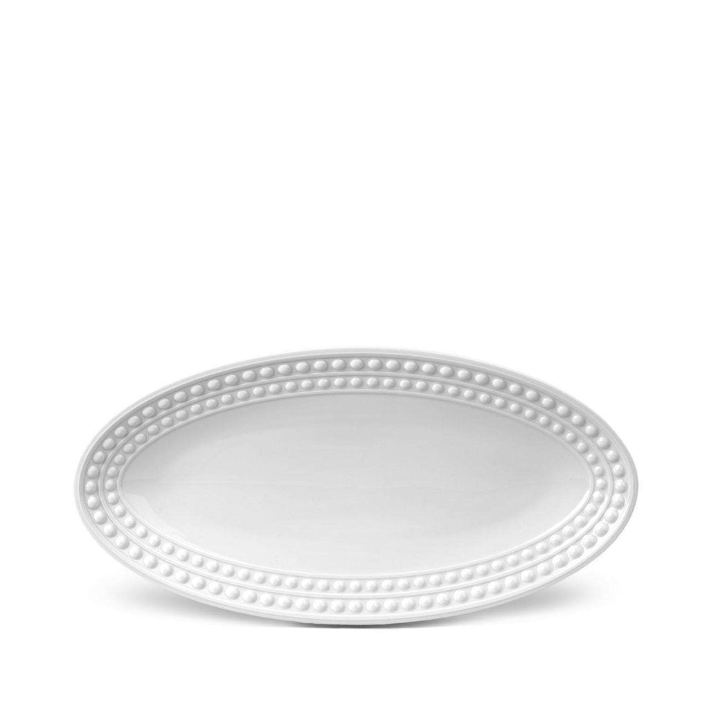 Perlée Oval Platter - Small - White - TERTIUS COLLECTION