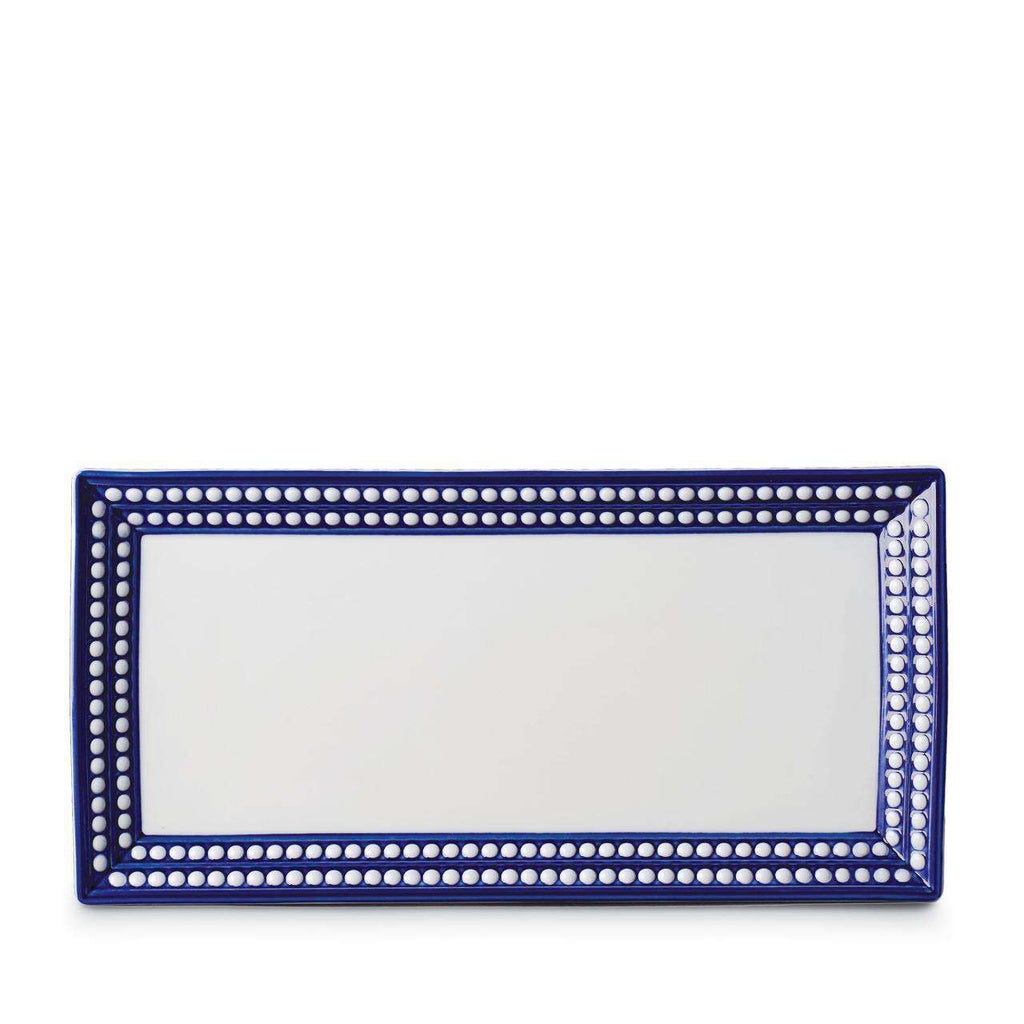 Perlée Rectangular Platter - Medium - Bleu - TERTIUS COLLECTION