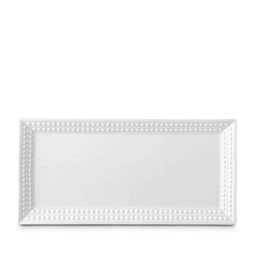 Perlée Rectangular Platter - Medium - White - TERTIUS COLLECTION