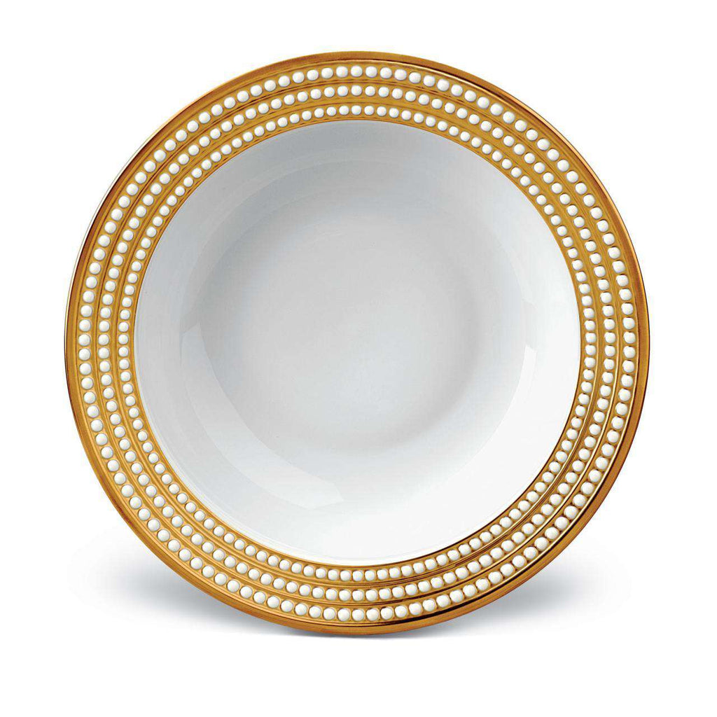 Perlée Rimmed Serving Bowl - Gold - TERTIUS COLLECTION