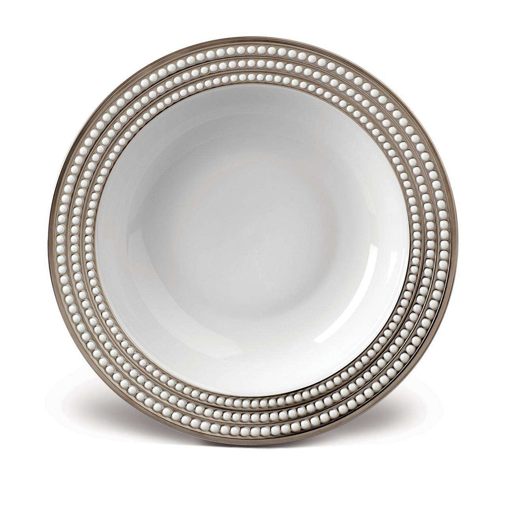 Perlée Rimmed Serving Bowl - Platinum - TERTIUS COLLECTION