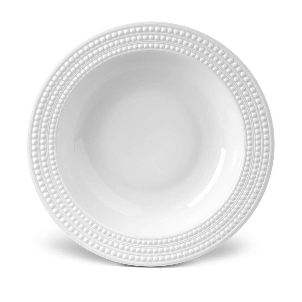 Perlée Rimmed Serving Bowl - White - TERTIUS COLLECTION