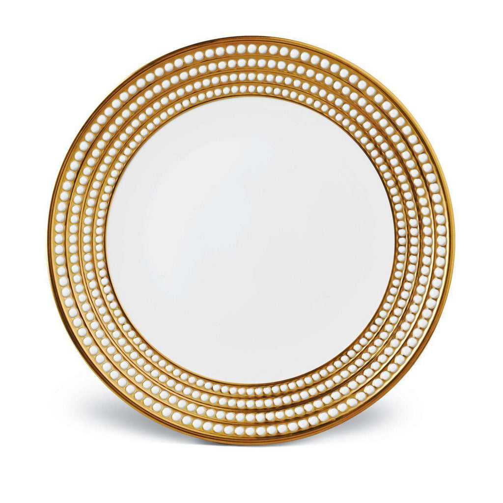 Perlée Round Platter - Gold - TERTIUS COLLECTION