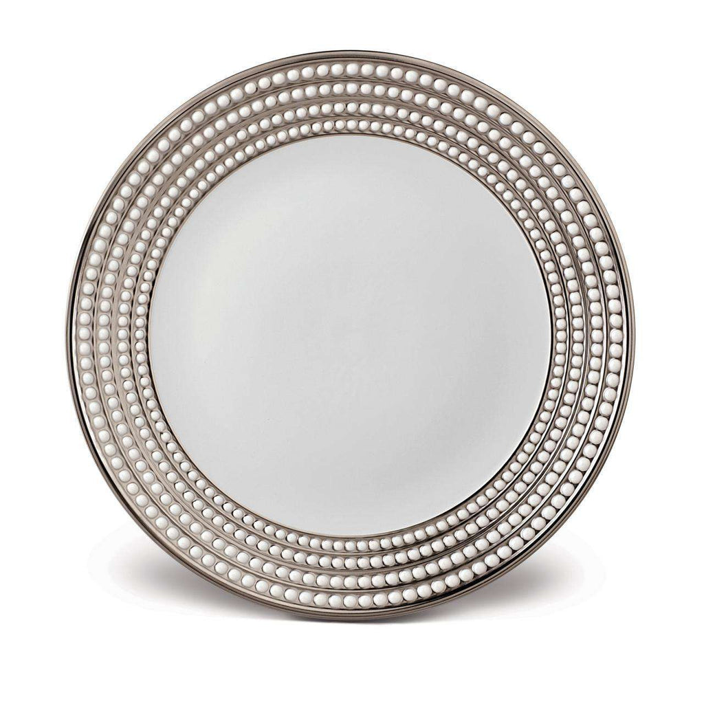 Perlée Round Platter - Platinum - TERTIUS COLLECTION