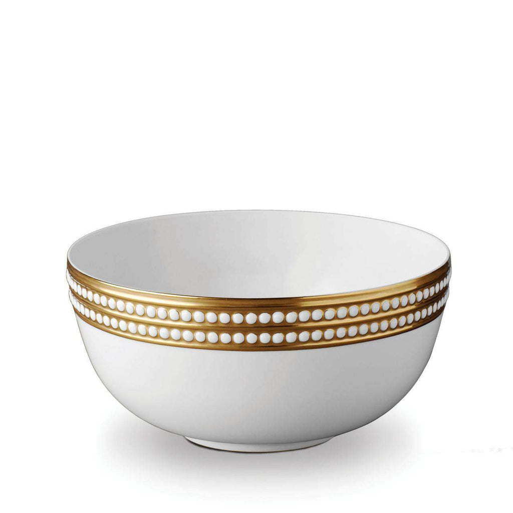 Perlée Serving Bowl - Large - Gold - TERTIUS COLLECTION