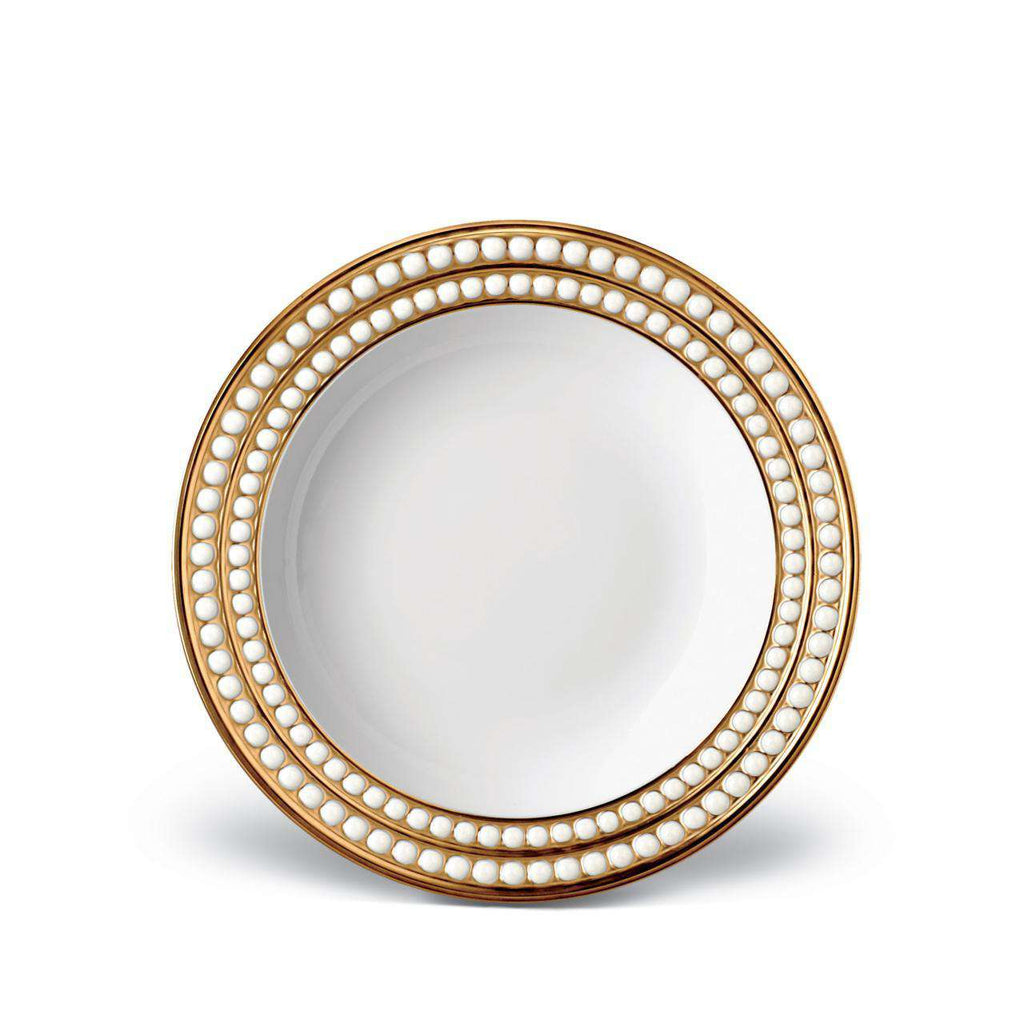 Perlée Soup Plate - Gold - TERTIUS COLLECTION