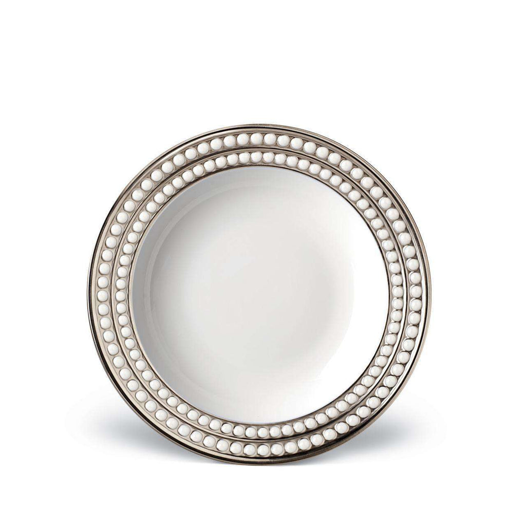 Perlée Soup Plate - Platinum - TERTIUS COLLECTION