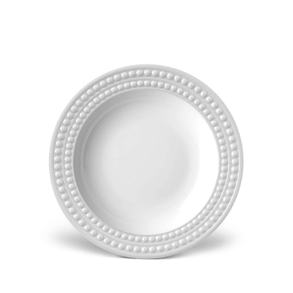 Perlée Soup Plate - White - TERTIUS COLLECTION