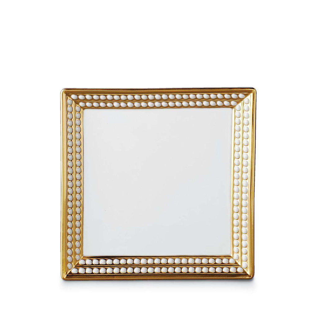 Perlée Square Tray - Small - Gold - TERTIUS COLLECTION
