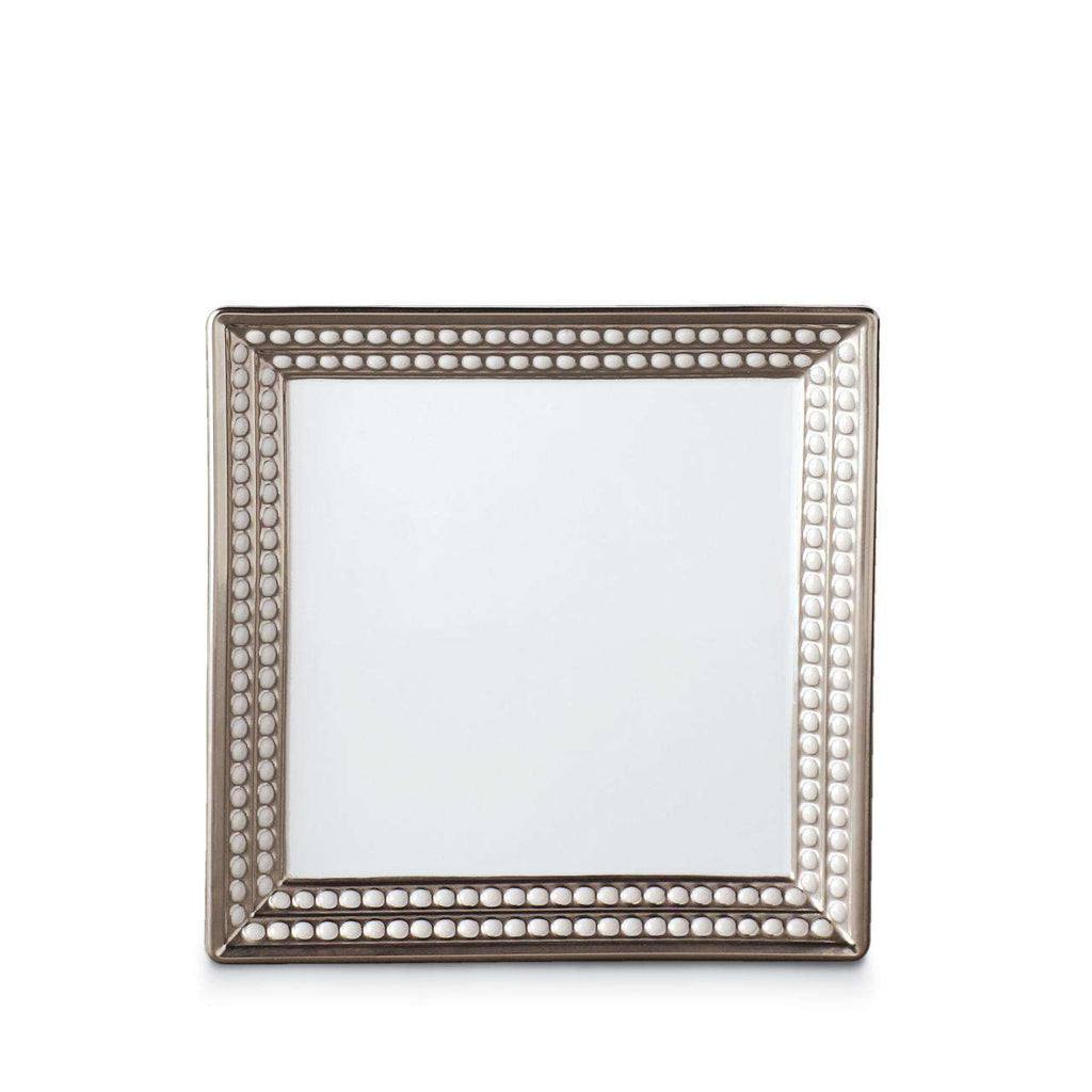 Perlée Square Tray - Small - Platinum - TERTIUS COLLECTION