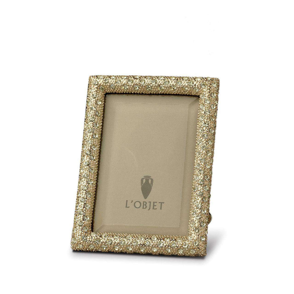 Rectangular Pave Frame 2x3 - Gold - TERTIUS COLLECTION