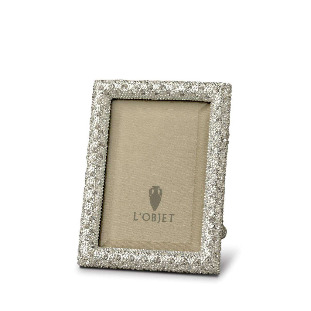 Rectangular Pave Frame 2x3 - Platinum & Crystals - TERTIUS COLLECTION
