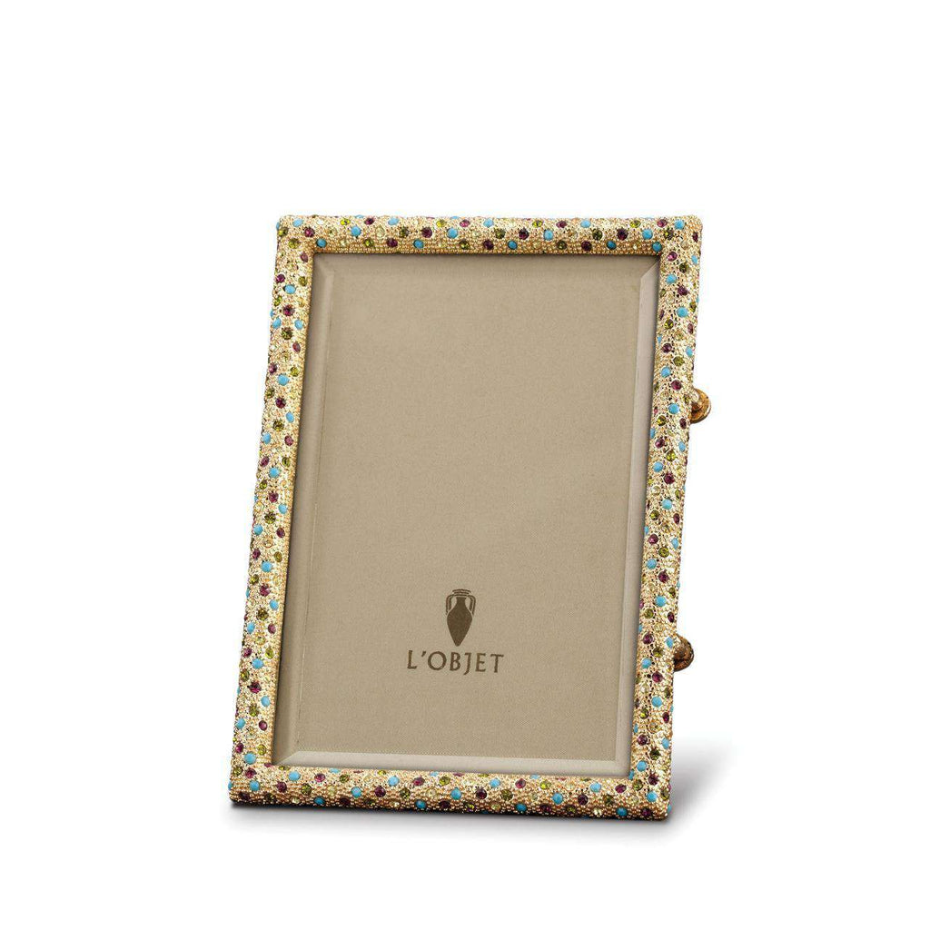Rectangular Pave Frame 4x6 - Gold & Crystals - TERTIUS COLLECTION