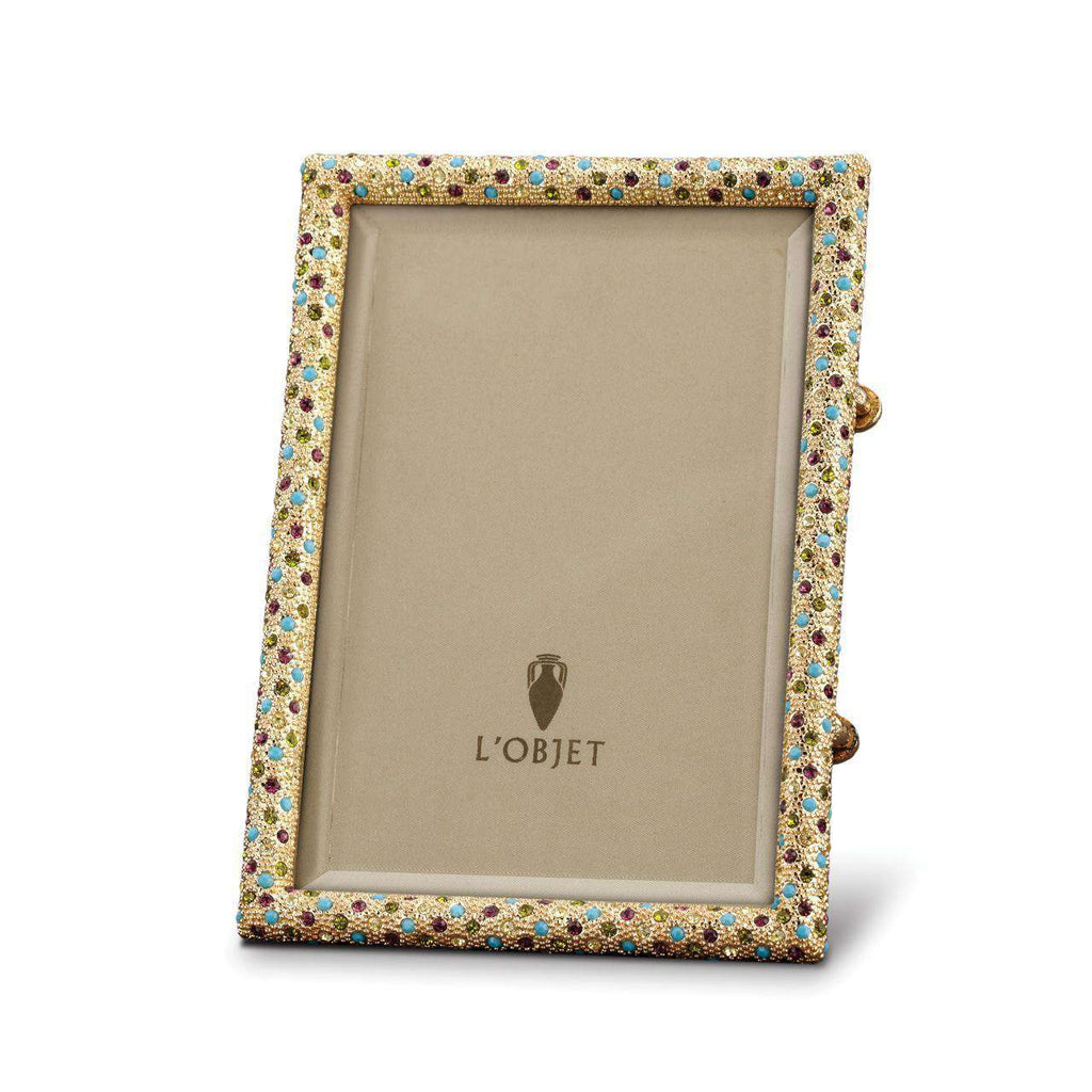 Rectangular Pave Frame 5x7 - Gold & Crystals - TERTIUS COLLECTION