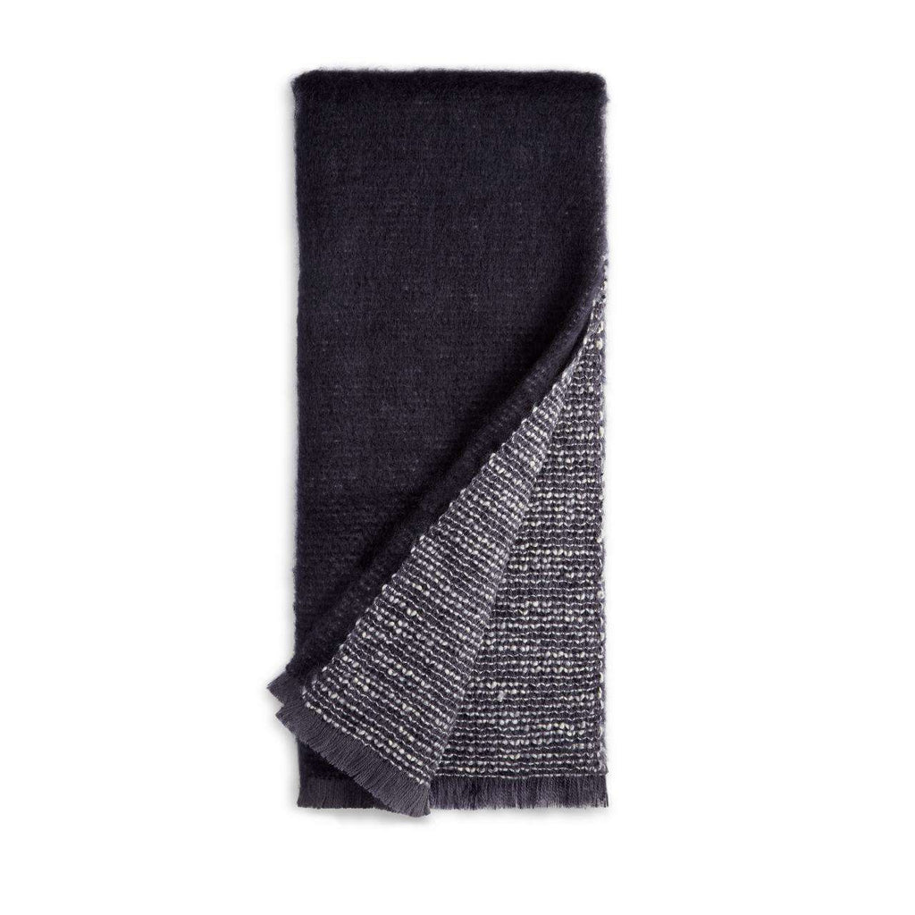 Seville Bouclé Throw - Charcoal - TERTIUS COLLECTION