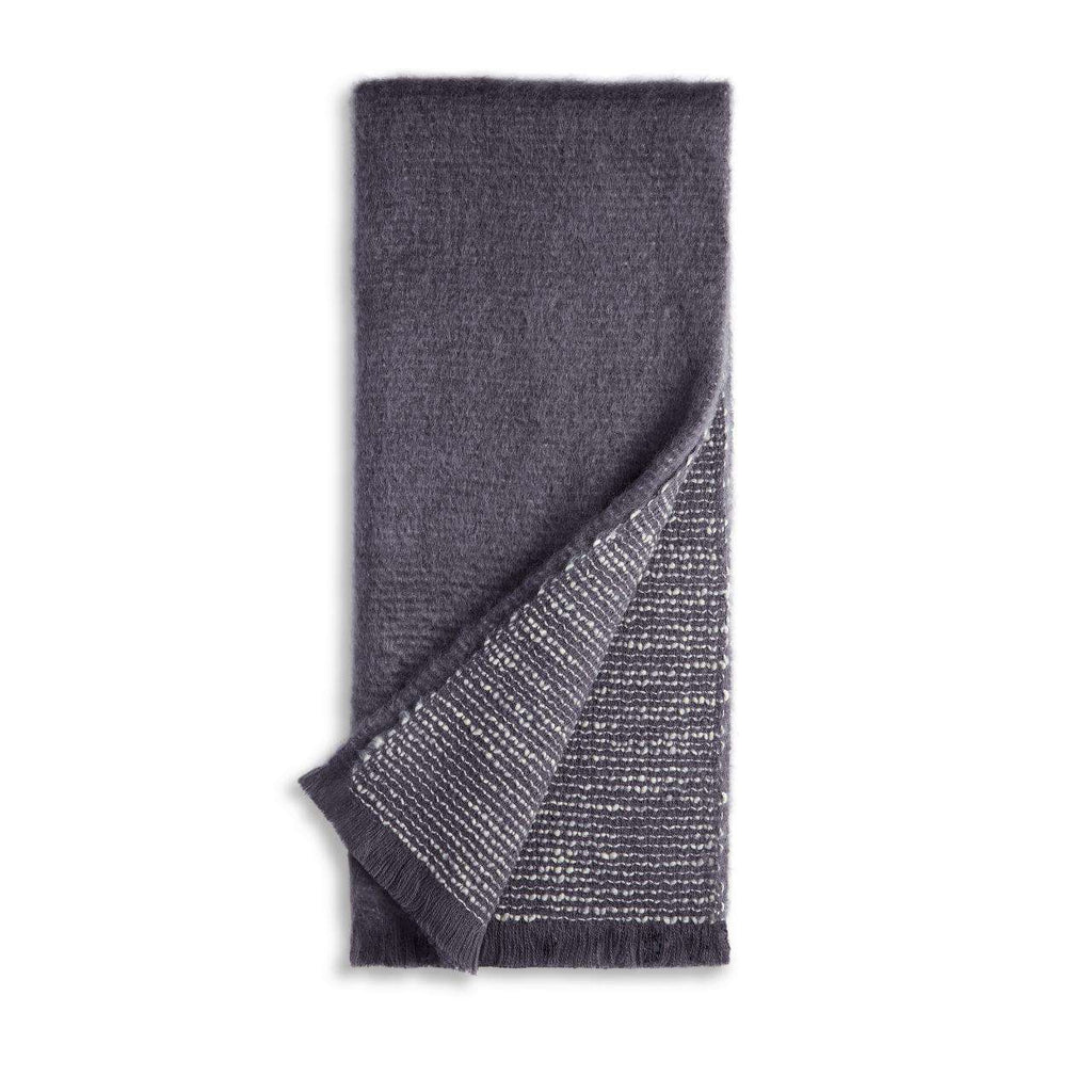 Seville Bouclé Throw - Grey - TERTIUS COLLECTION
