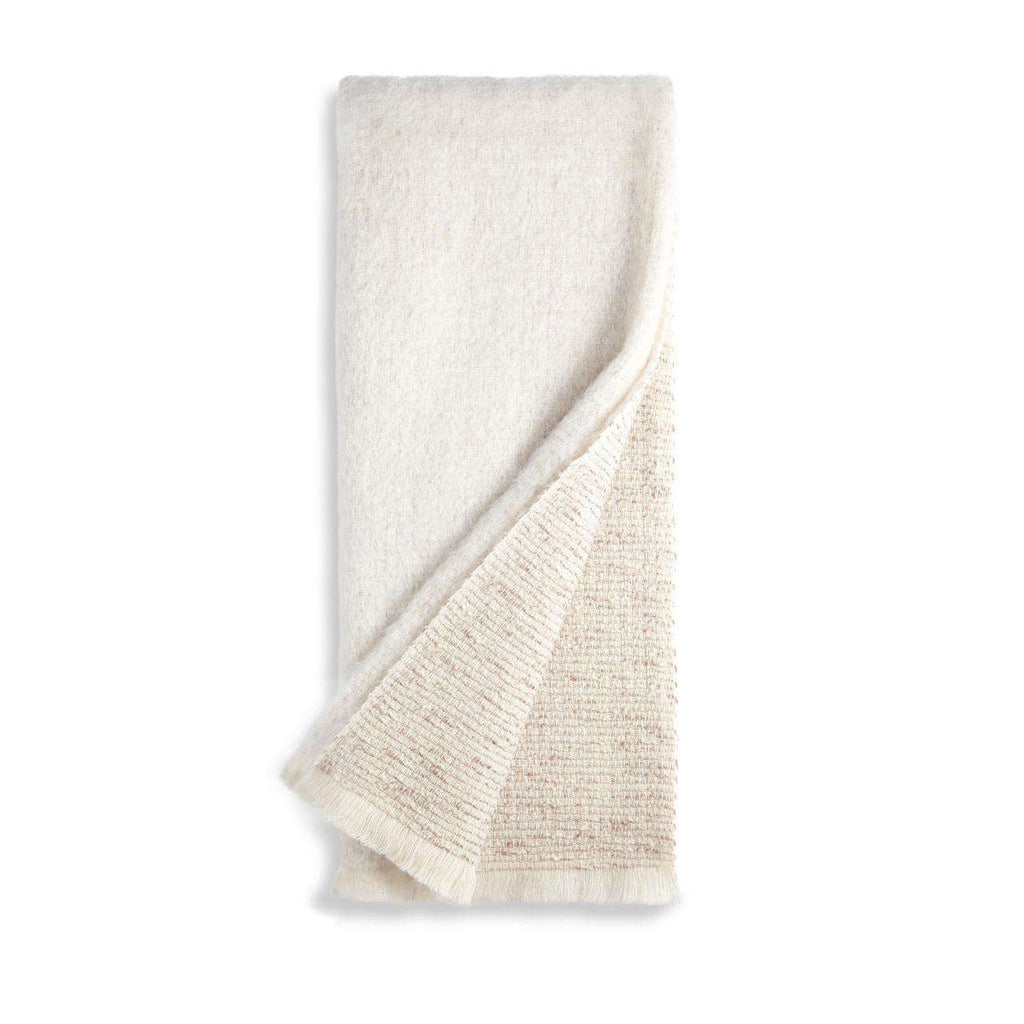 Seville Bouclé Throw - Ivory - TERTIUS COLLECTION