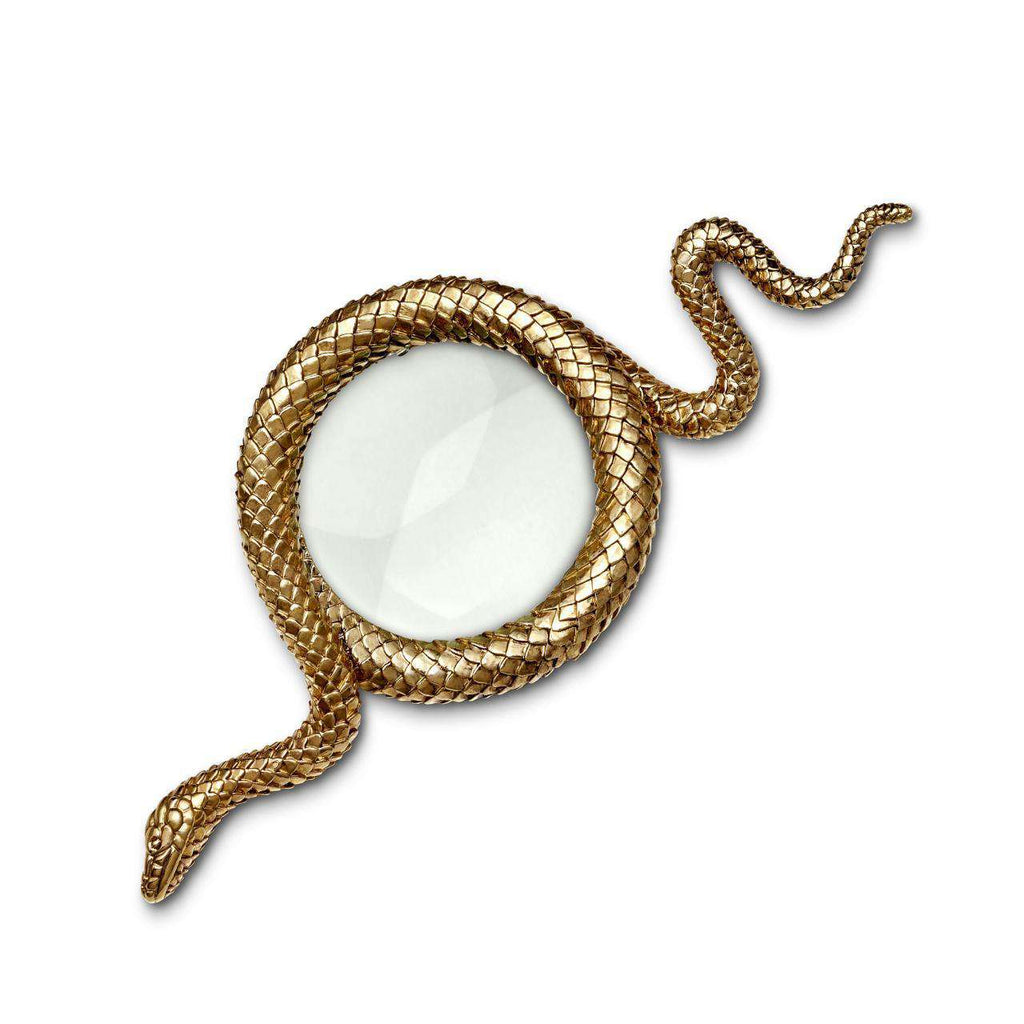 Snake Magnifying Glass - Large - Gold - TERTIUS COLLECTION