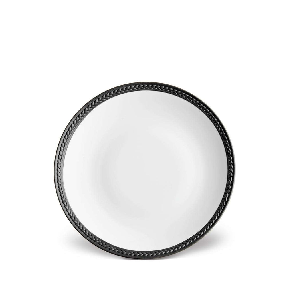 Soie Tressée Bread & Butter Plate - Black - TERTIUS COLLECTION