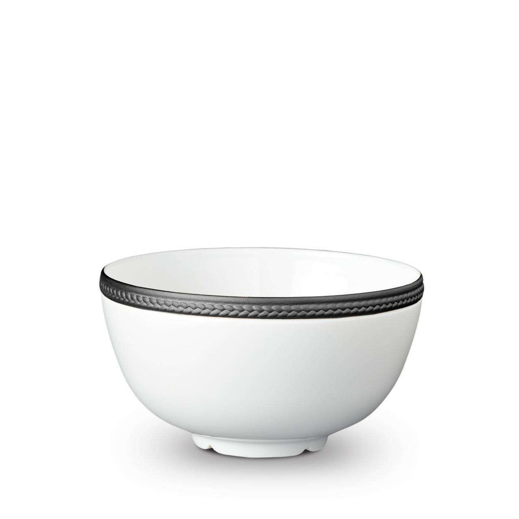 Soie Tressée Cereal Bowl - Medium - Black - TERTIUS COLLECTION