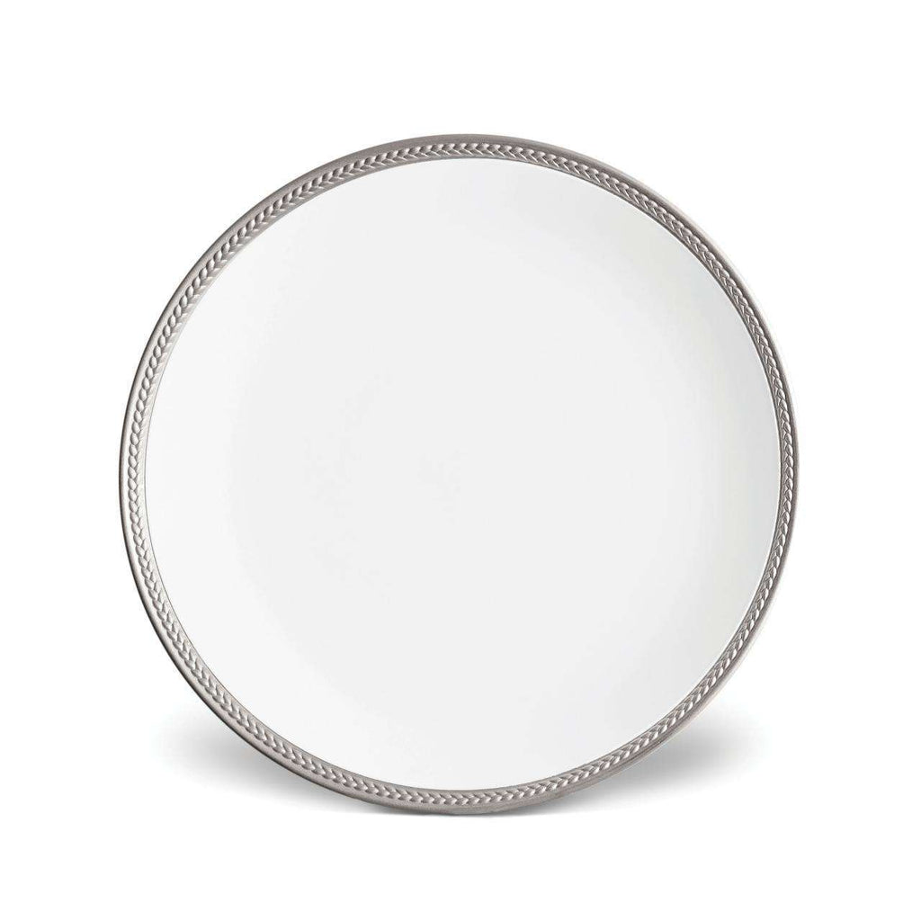 Soie Tressée Dinner Plate - Platinum - TERTIUS COLLECTION