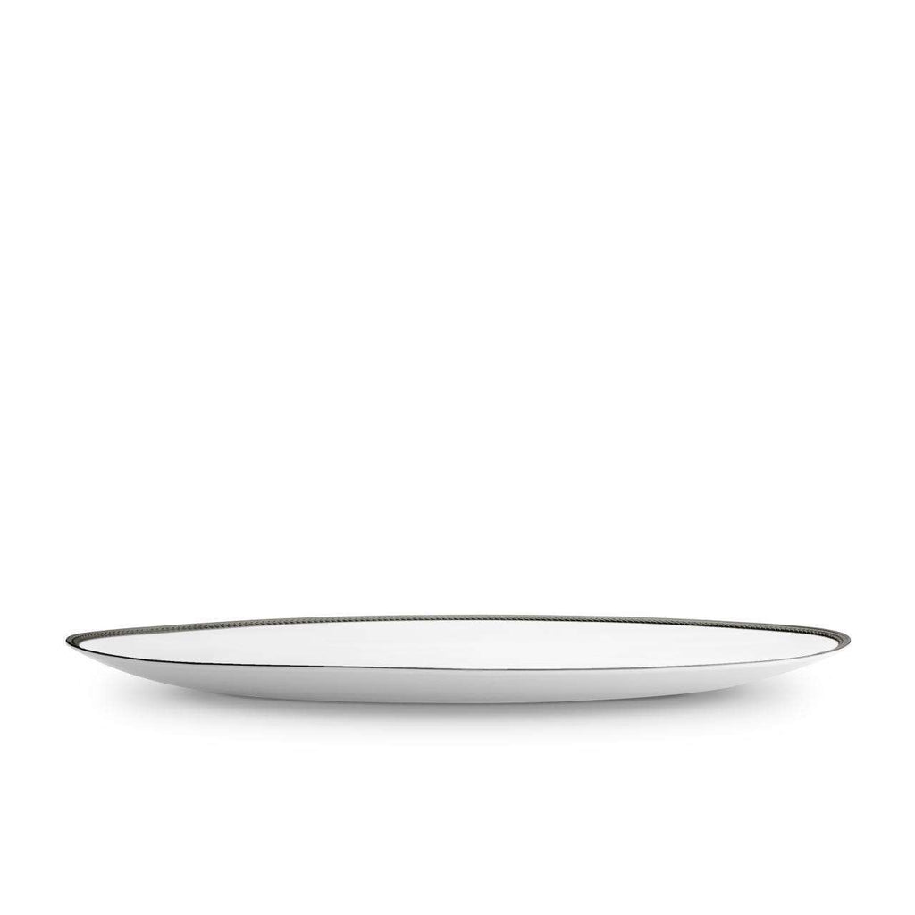 Soie Tressée Oval Platter - Large - Black - TERTIUS COLLECTION