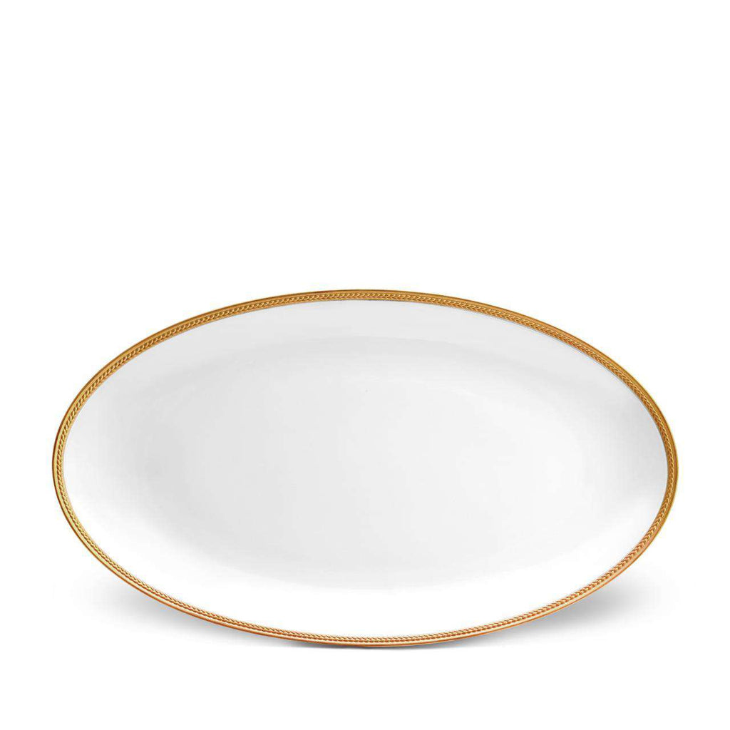 Soie Tressée Oval Platter - Large - Gold - TERTIUS COLLECTION