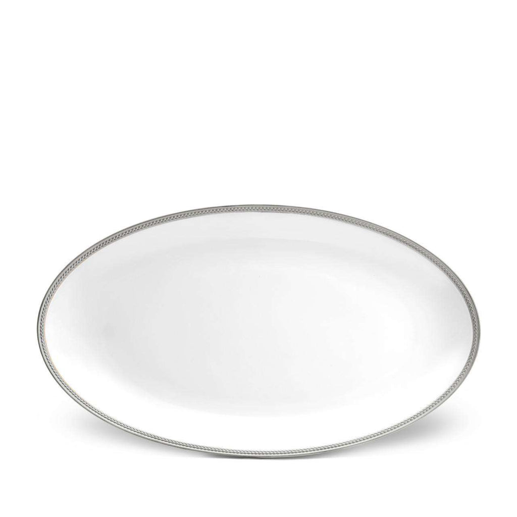 Soie Tressée Oval Platter - Large - Platinum - TERTIUS COLLECTION