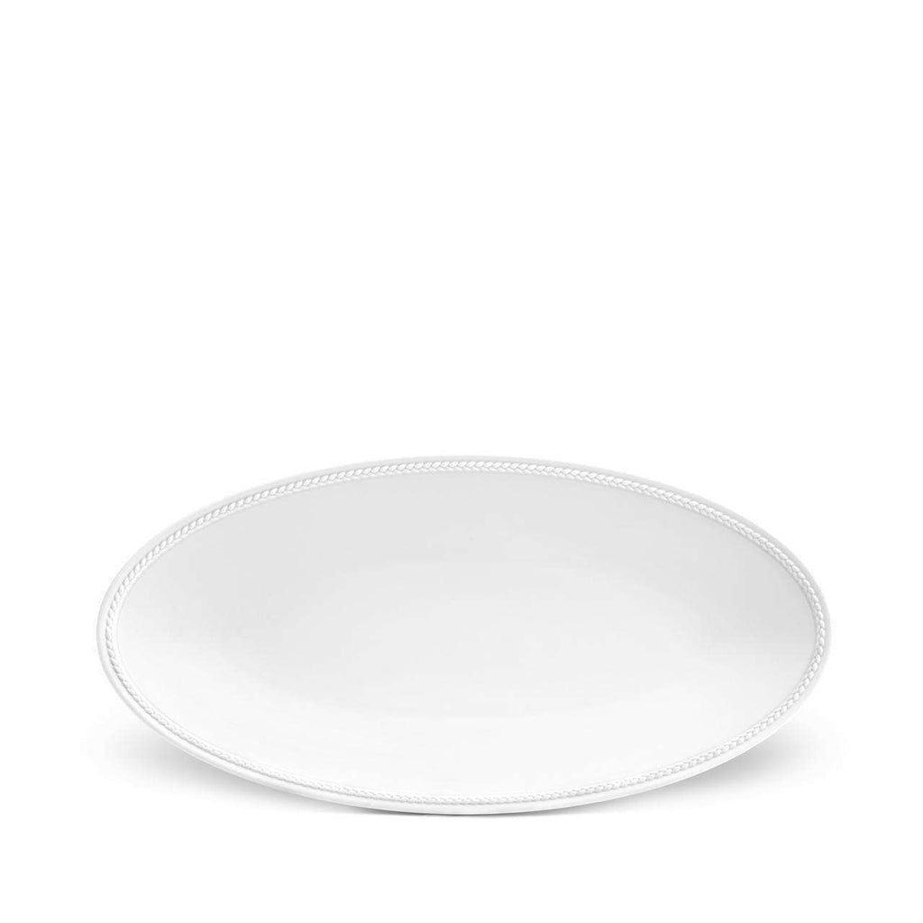 Soie Tressée Oval Platter - Small - White - TERTIUS COLLECTION