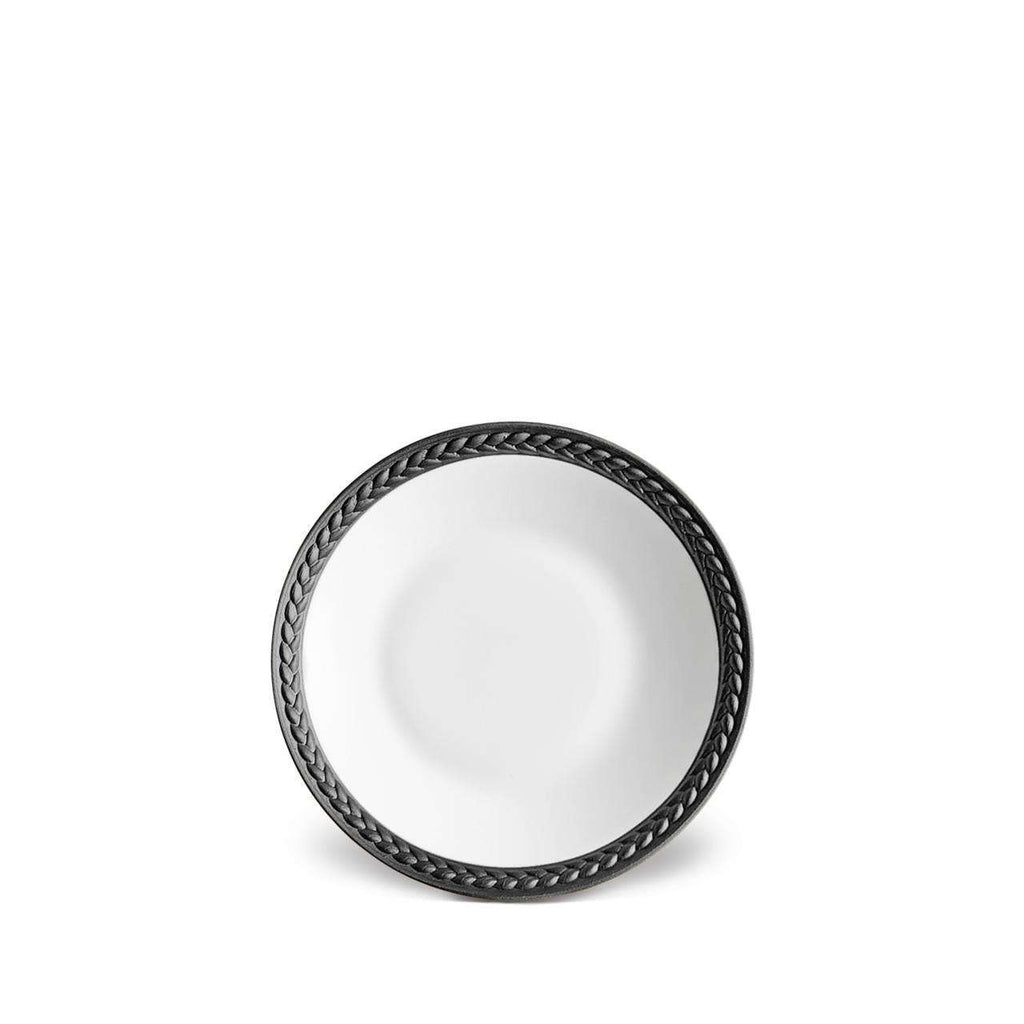 Soie Tressée Sauce Dish & Spoon Rest - Black - TERTIUS COLLECTION