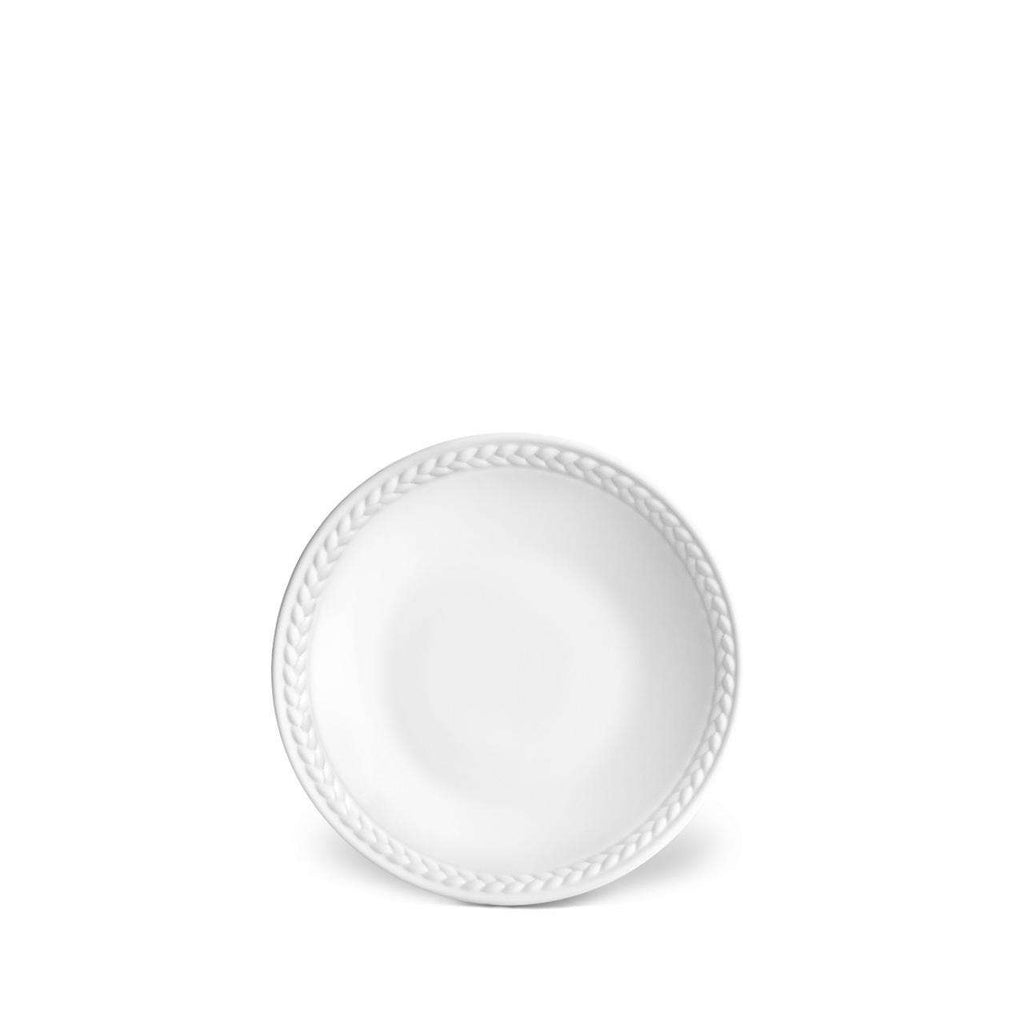 Soie Tressée Sauce Dish & Spoon Rest - White - TERTIUS COLLECTION