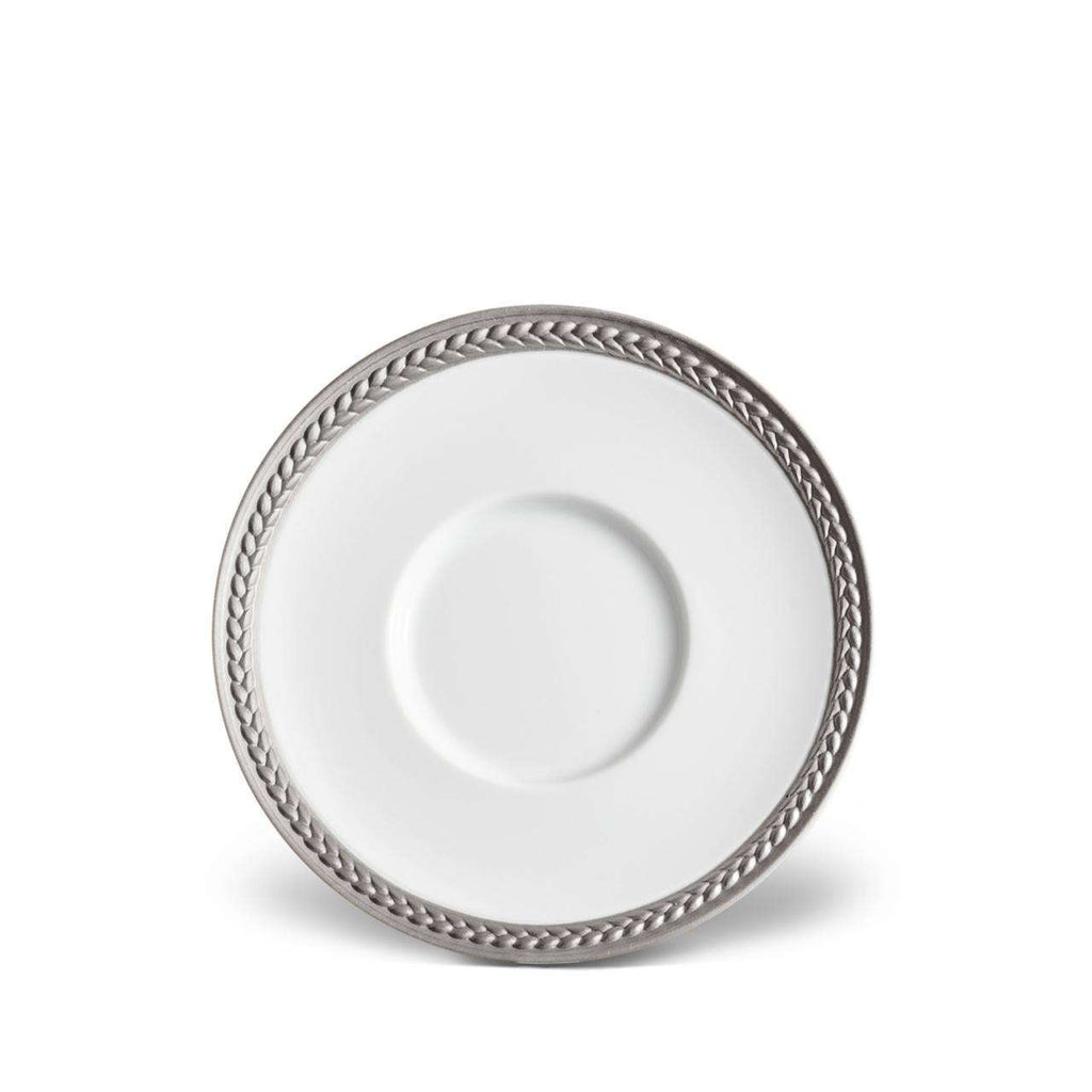 Soie Tressée Saucer - Platinum - TERTIUS COLLECTION