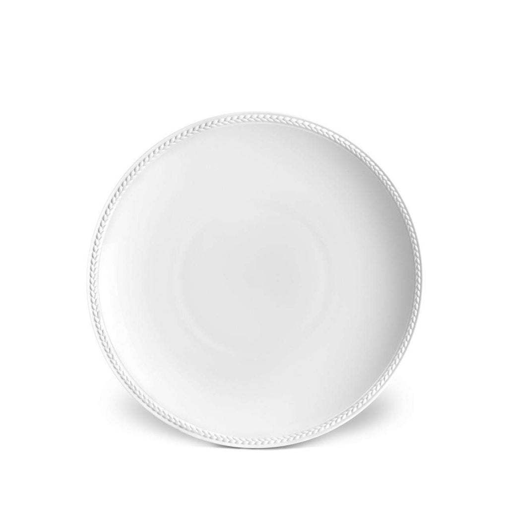 Soie Tressée Soup Plate - White - TERTIUS COLLECTION