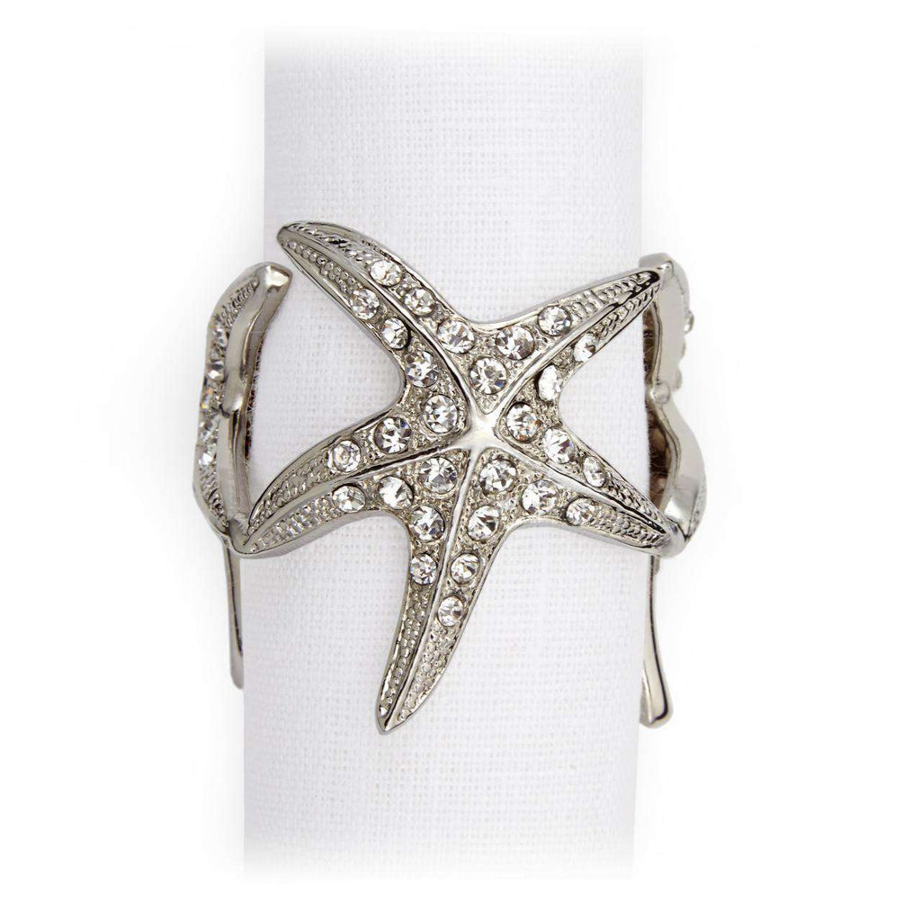 Starfish Napkin Jewels - Platinum - TERTIUS COLLECTION