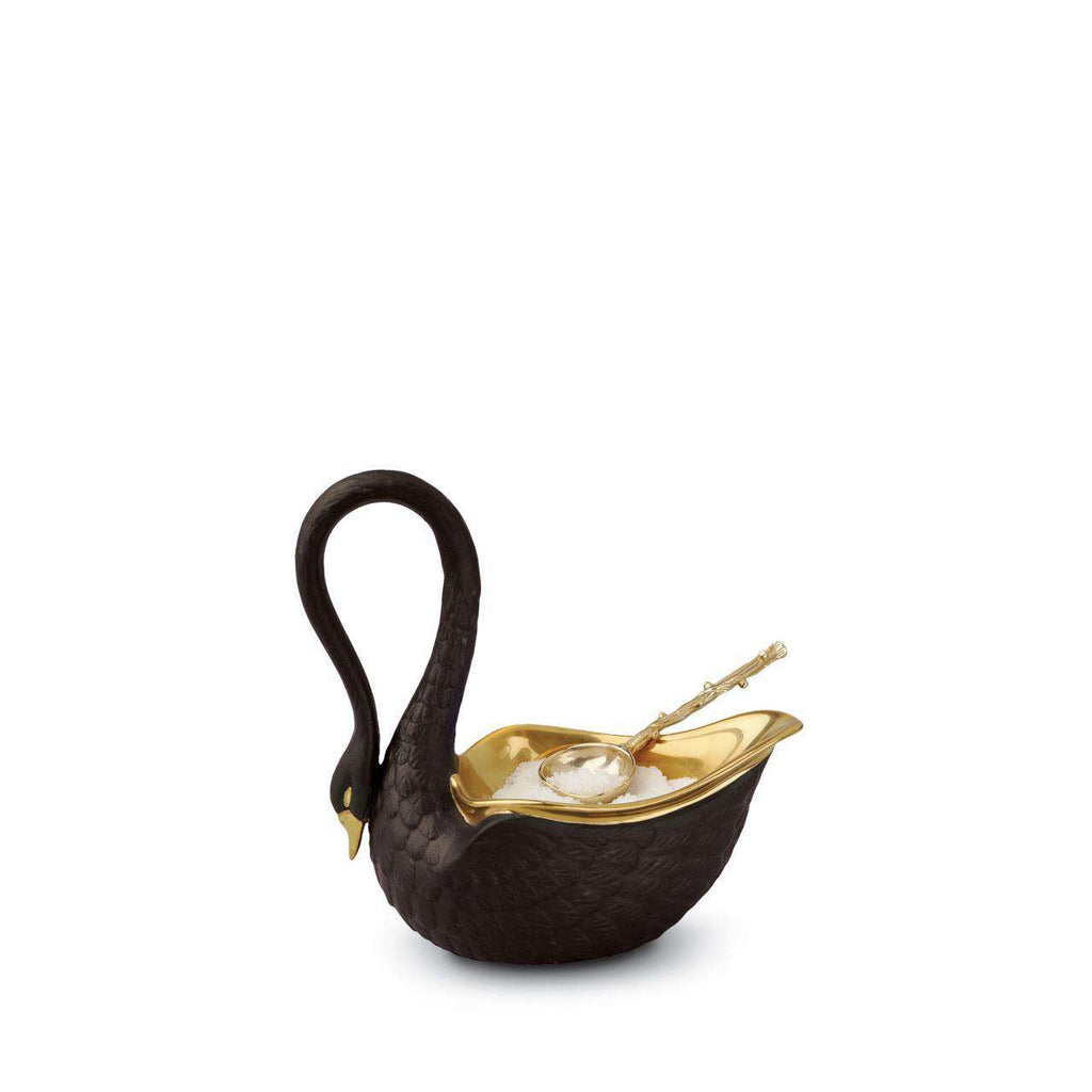 Swan Salt Cellar - Small - Black - TERTIUS COLLECTION