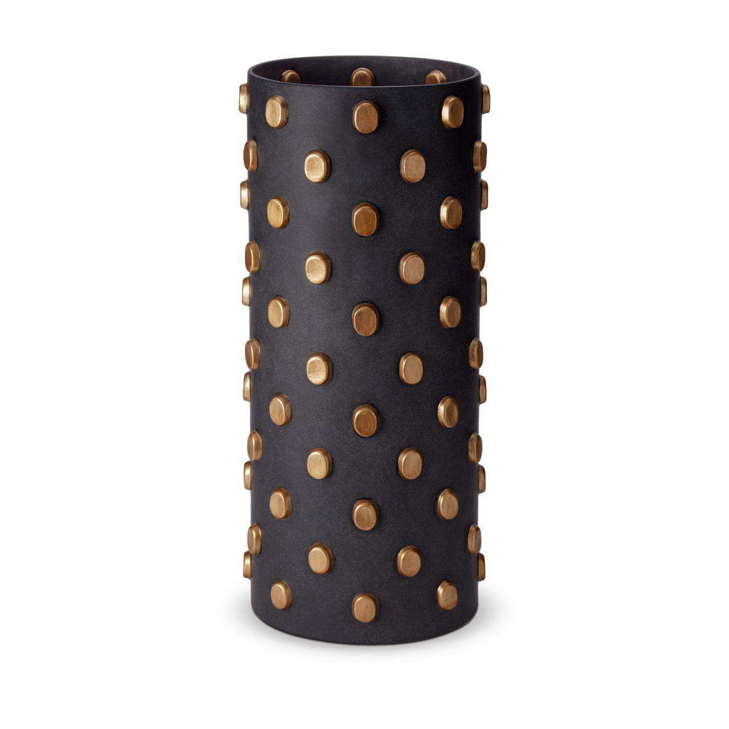 Teo Vase - X-Large - Black & Gold - TERTIUS COLLECTION