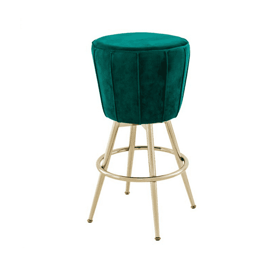 The Velvet Green Bar Stool - TERTIUS COLLECTION