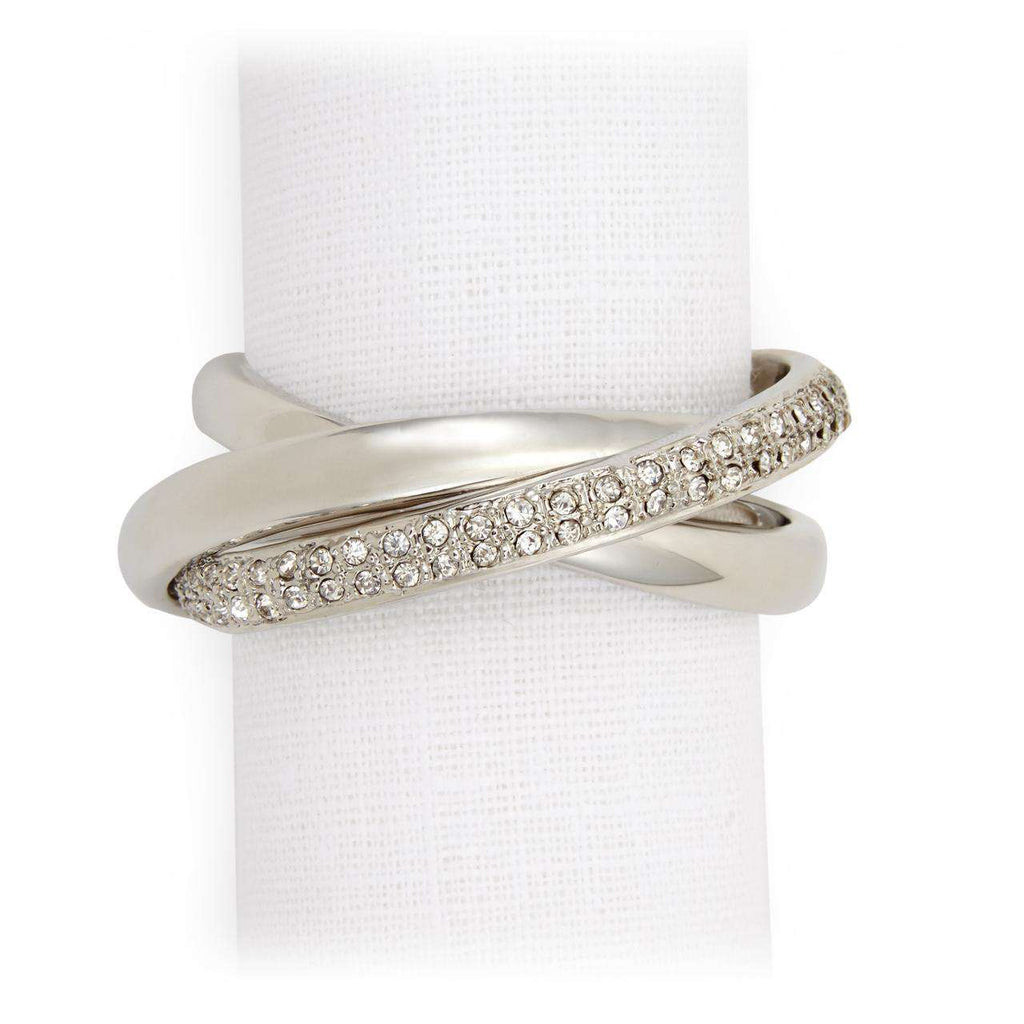 Three Ring Crystal Napkin Jewels - Platinum - TERTIUS COLLECTION