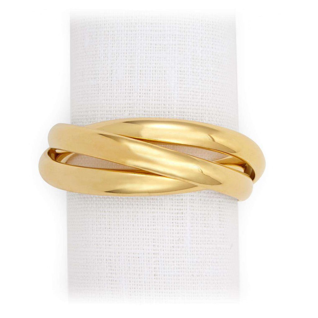 Three Ring Napkin Jewels - Gold - TERTIUS COLLECTION