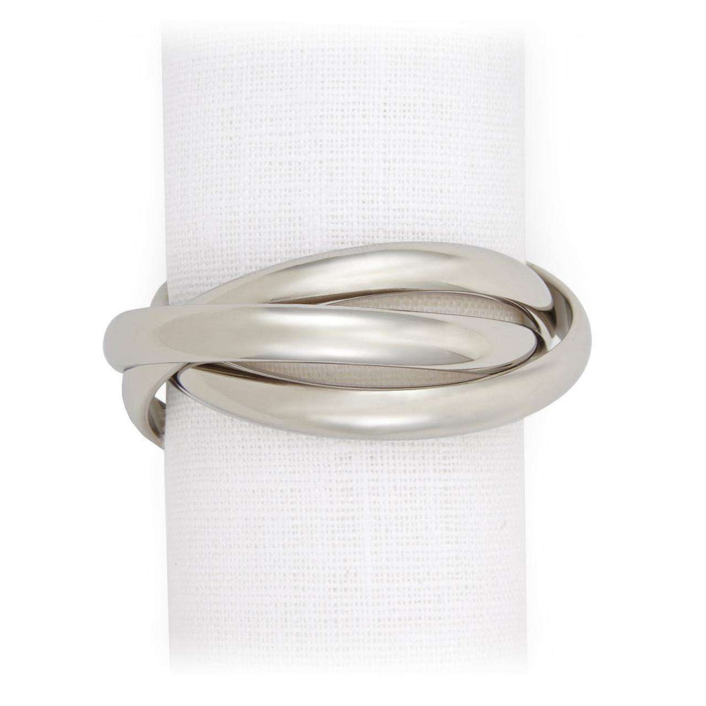 Three Ring Napkin Jewels - Platinum - TERTIUS COLLECTION