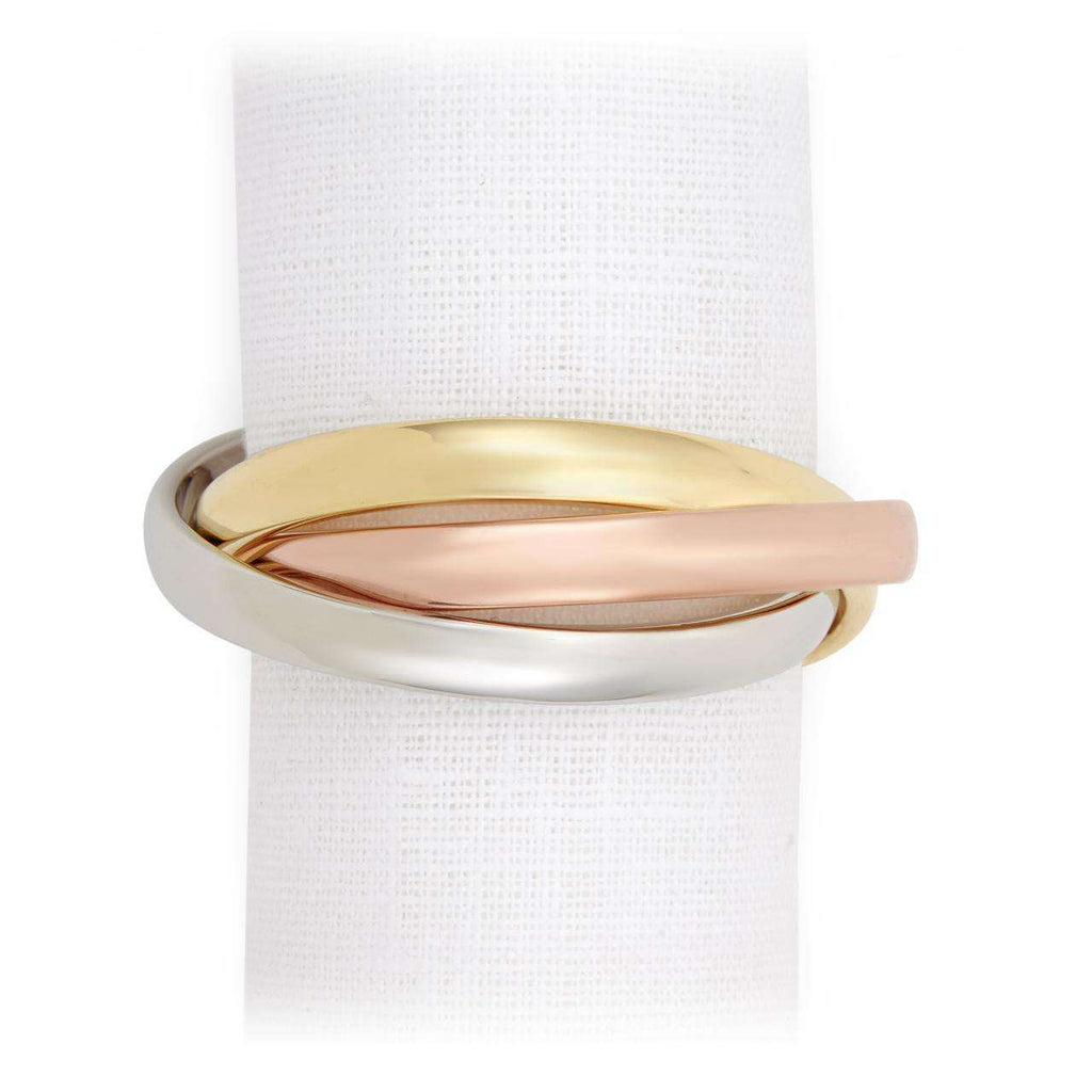 Three Ring Napkin Jewels - Tri-Color - TERTIUS COLLECTION
