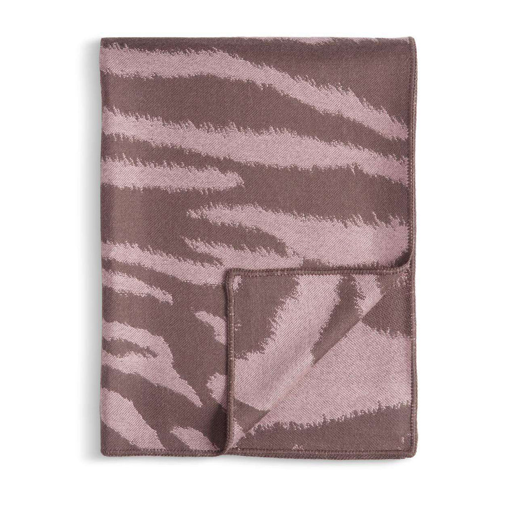 Tiger Jacquard Throw - Mauve & Taupe - TERTIUS COLLECTION