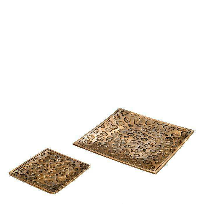 Tray Leopard set of 2 - TERTIUS COLLECTION