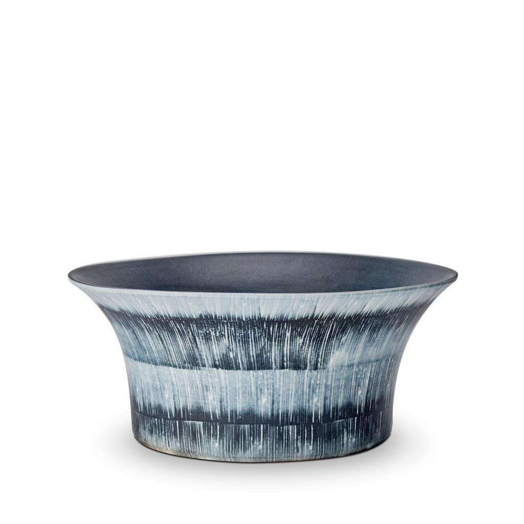 Tribal Bowl - Medium - Blue & White - TERTIUS COLLECTION